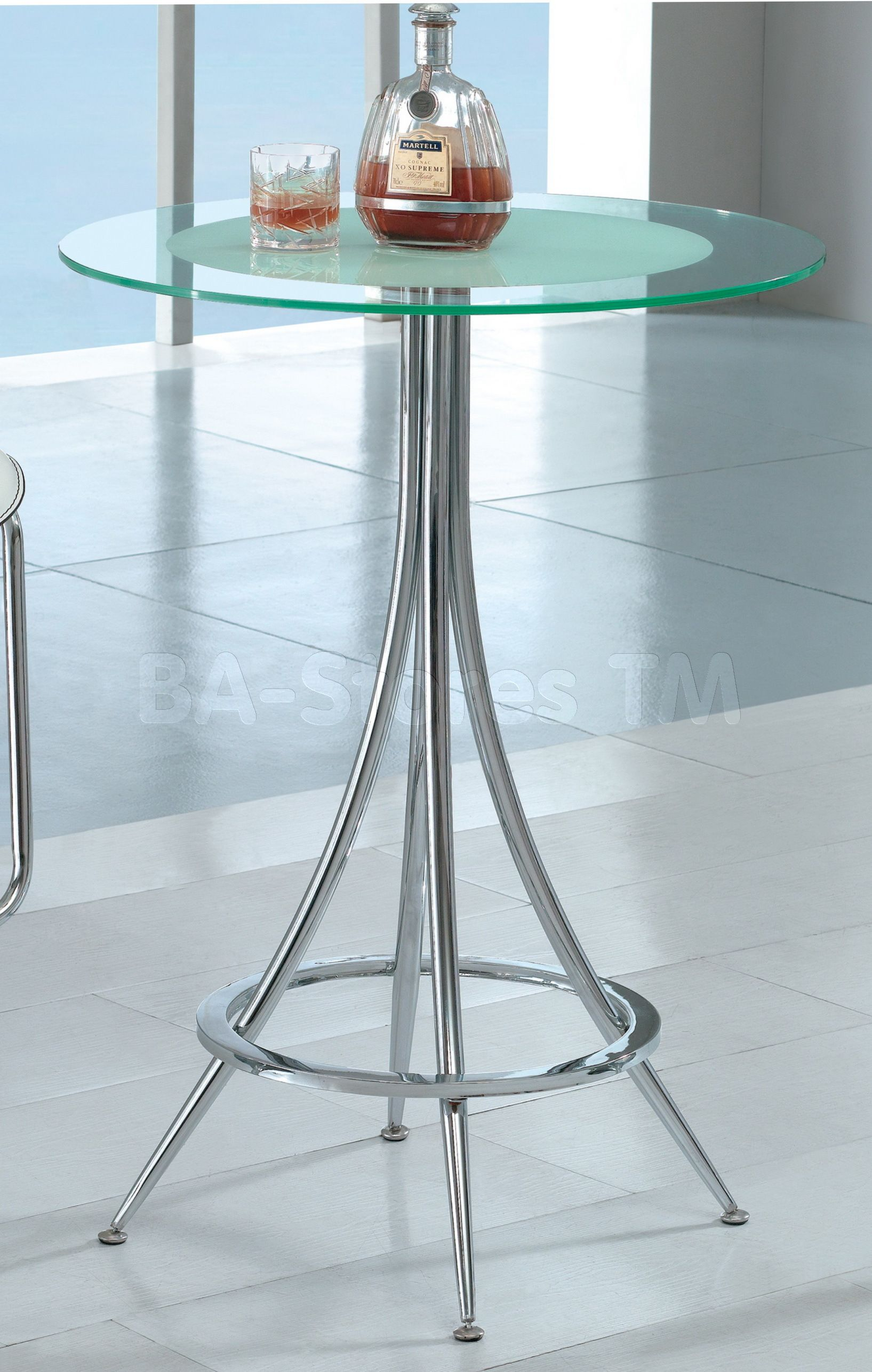 American Eagle Furniture White And Chrome Colored Glass Bar Table | Bar, Pub  Tables U0026 Sets AEF B8006 WT/0