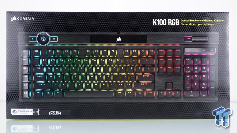 Corsair k100 rgb opticalmechanical gaming keyboard review