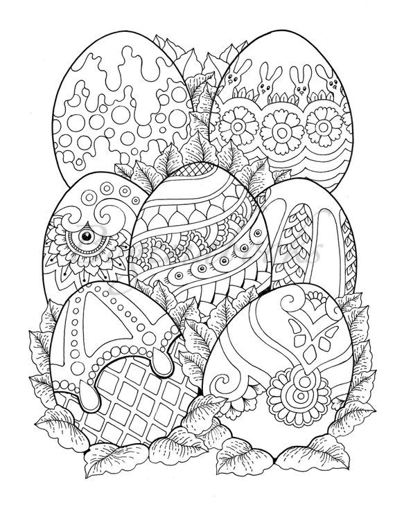 Nice Little Town Easter Adult Coloring Book (Coloring