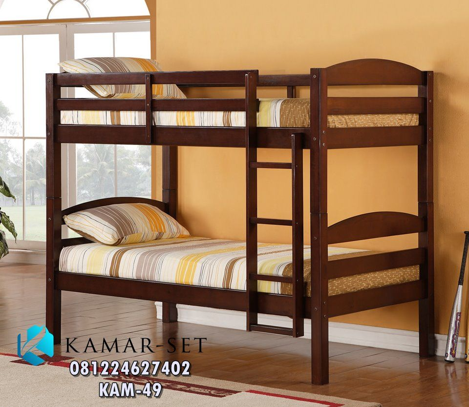 Ranjang Susun Anak Minimalis Simple Berlaci KAM 46 Bunk Bed