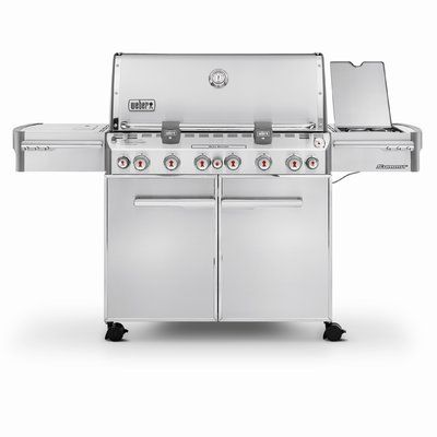 Weber Summit S 670 6 Burner Propane Gas Grill With Smoker Gas Grill Natural Gas Grill Propane Grill