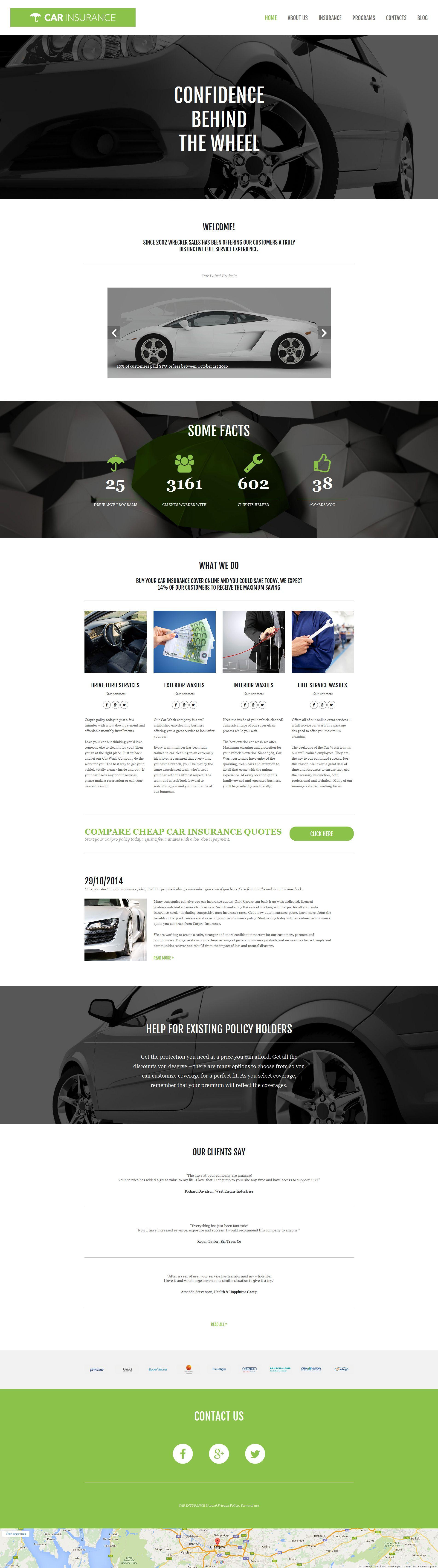Car insurance responsive moto cms 3 template 58681