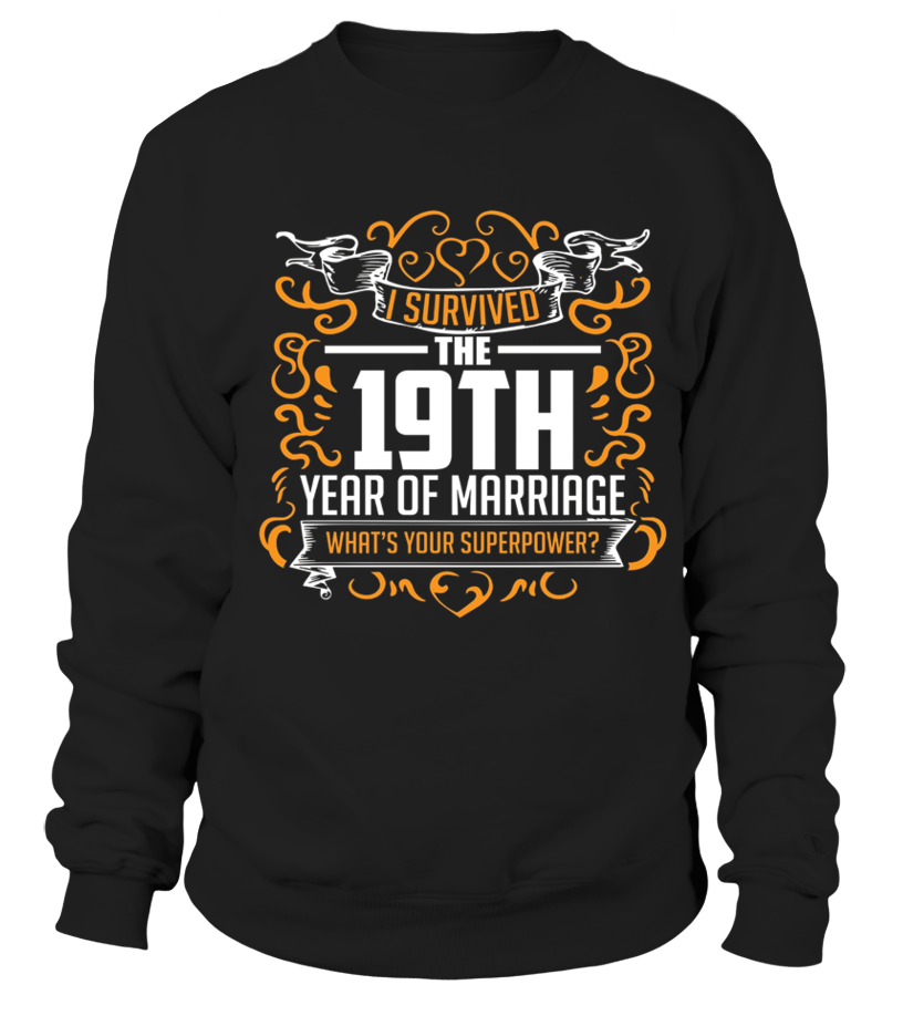 19th Wedding Anniversary Gifts 19 Year T Shirt For Her Him