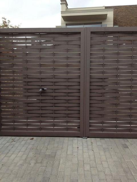 Ideas de portones de metal by for Puertas metalicas exterior jardin