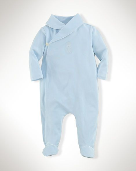 f5ee6cb2e11b Cotton Shawl-Collar Coverall - Baby Boy One-Pieces - RalphLauren.com ...