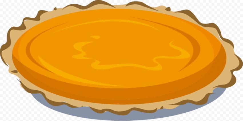 Cartoon Pumpkin Pie Tart Illustration Vector Clipart Pumpkin Pie Vector Clipart Clip Art