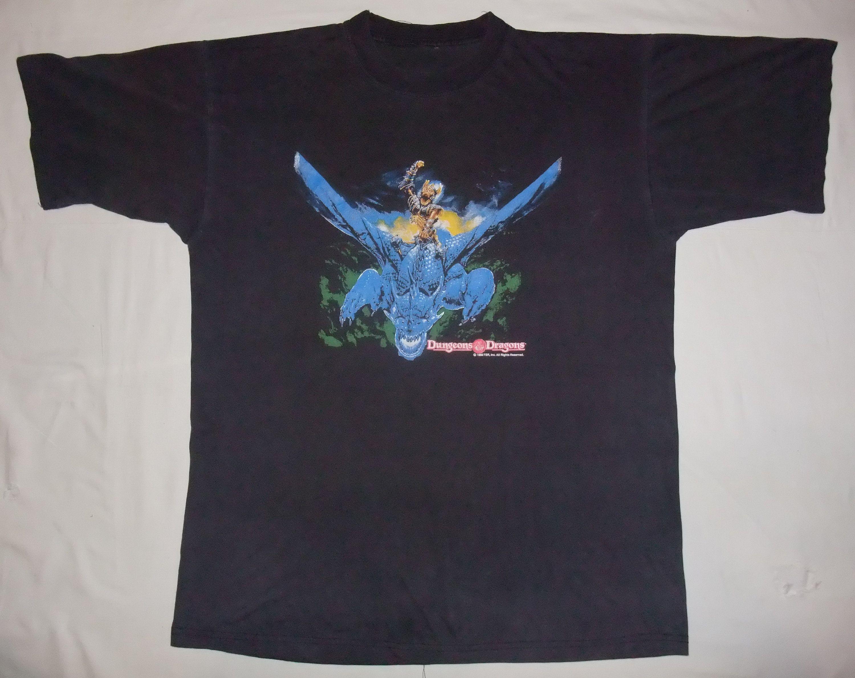 Vintage Rare Shirt Dungeons Dragons 90s 1993 Tshirt