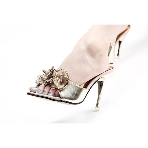 a4f5932baae4 Gold High Heel Beach Wedding Bridal Cocktail Evening Dressy Shoes Sandals  SKU-1090389