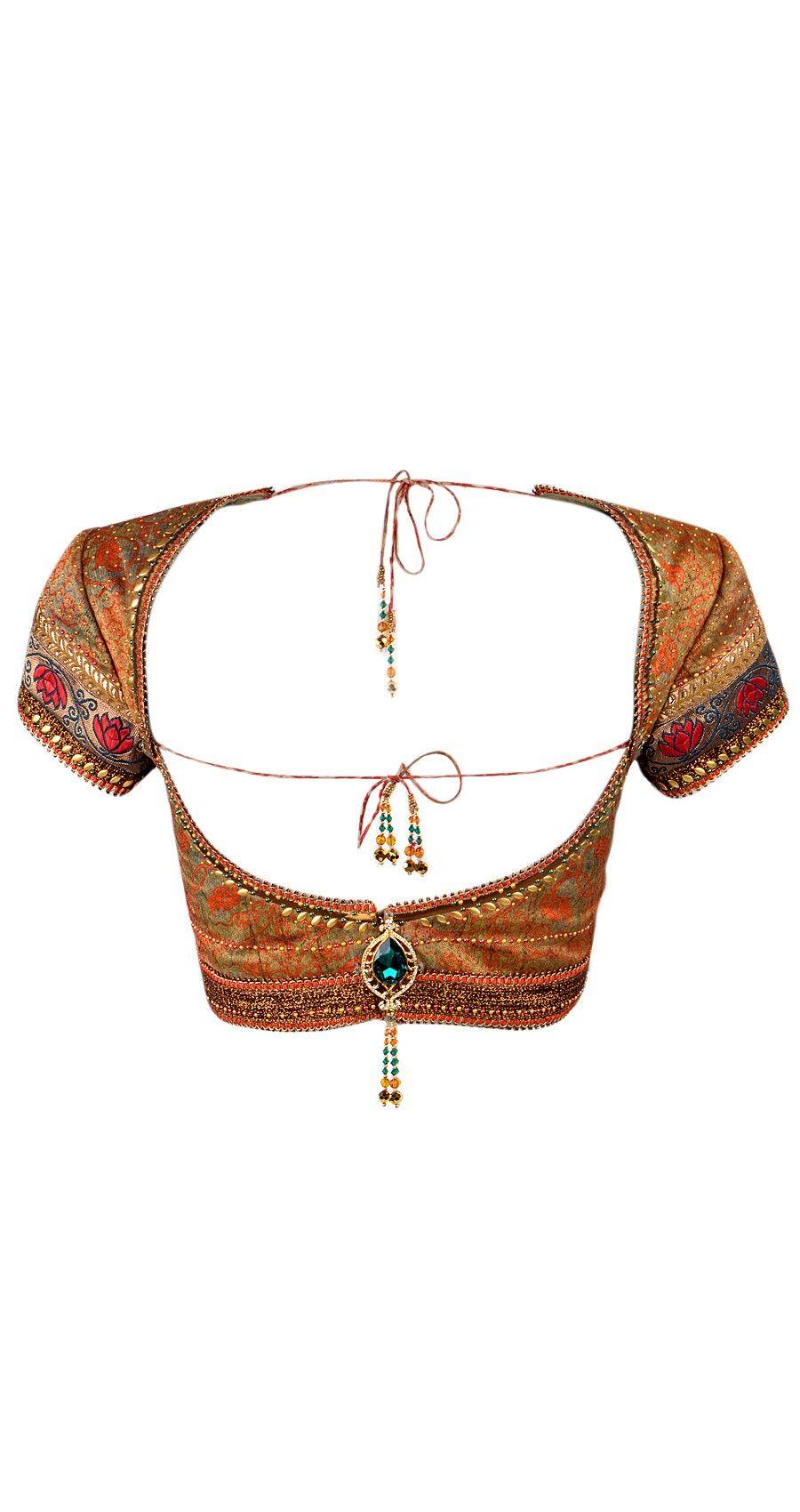 Gorgeous Tarun Tahiliani Open Back Choli Blouse  visit for similar designer blouse at: https://www.etsy.com/shop/JiyaGotaZariLace?section_id=16402837&ref=shopsection_leftnav_2