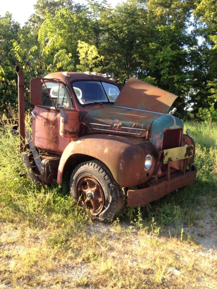 1950 To 1965 Mack Trucks : S mack truck as yard art abandoned trucks