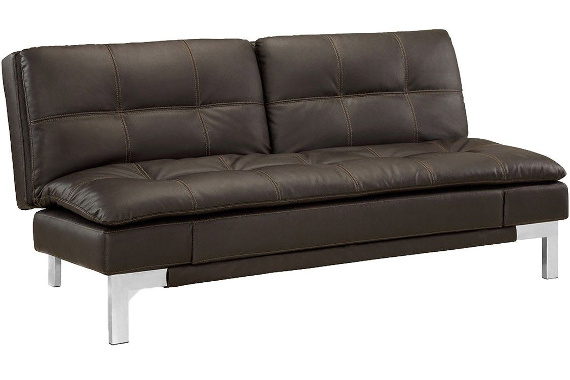 Leather Futon Sofa Bed In 2020 Brown Leather Sofa Bed Futon
