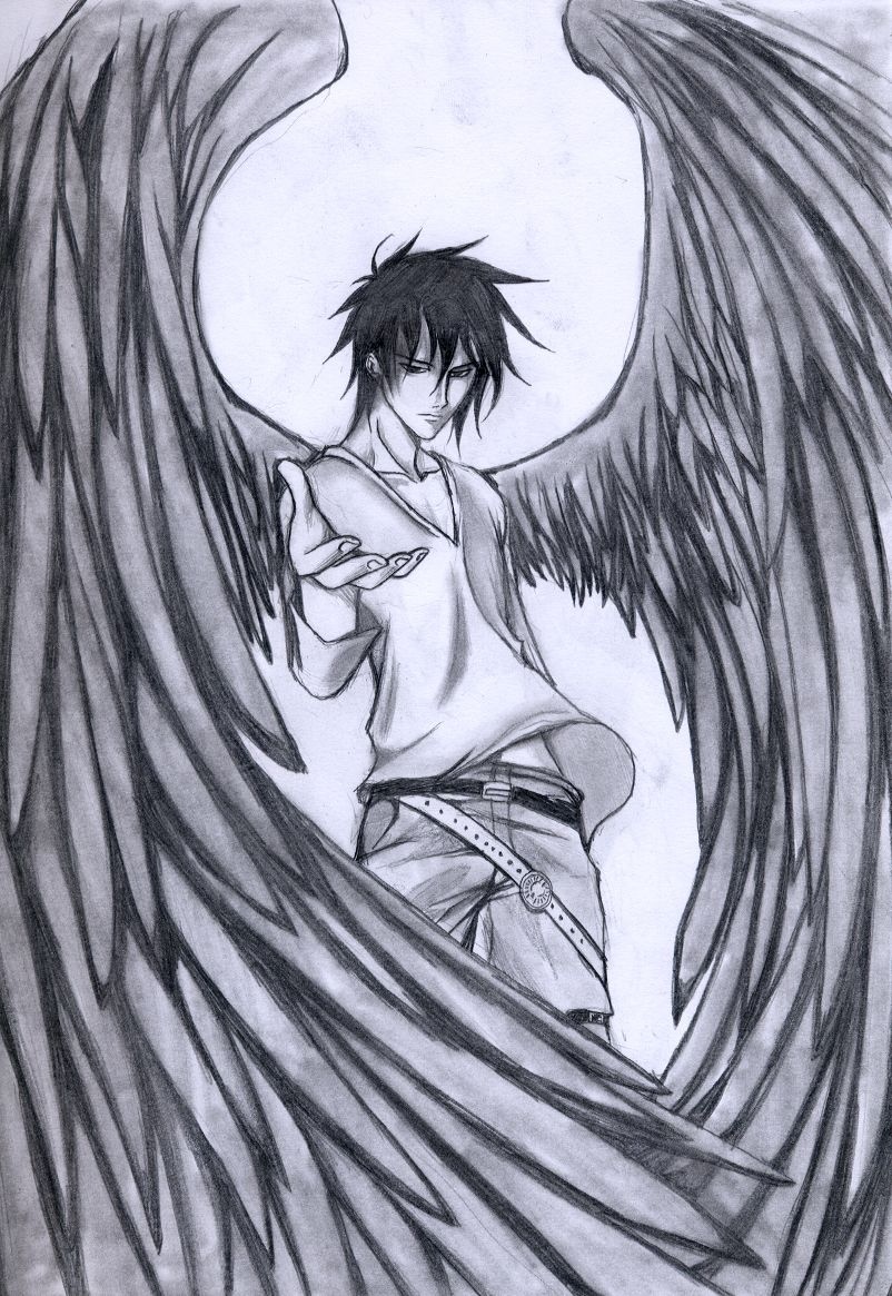 Love epic dark angel drawings. | Paper and Pencils ...
