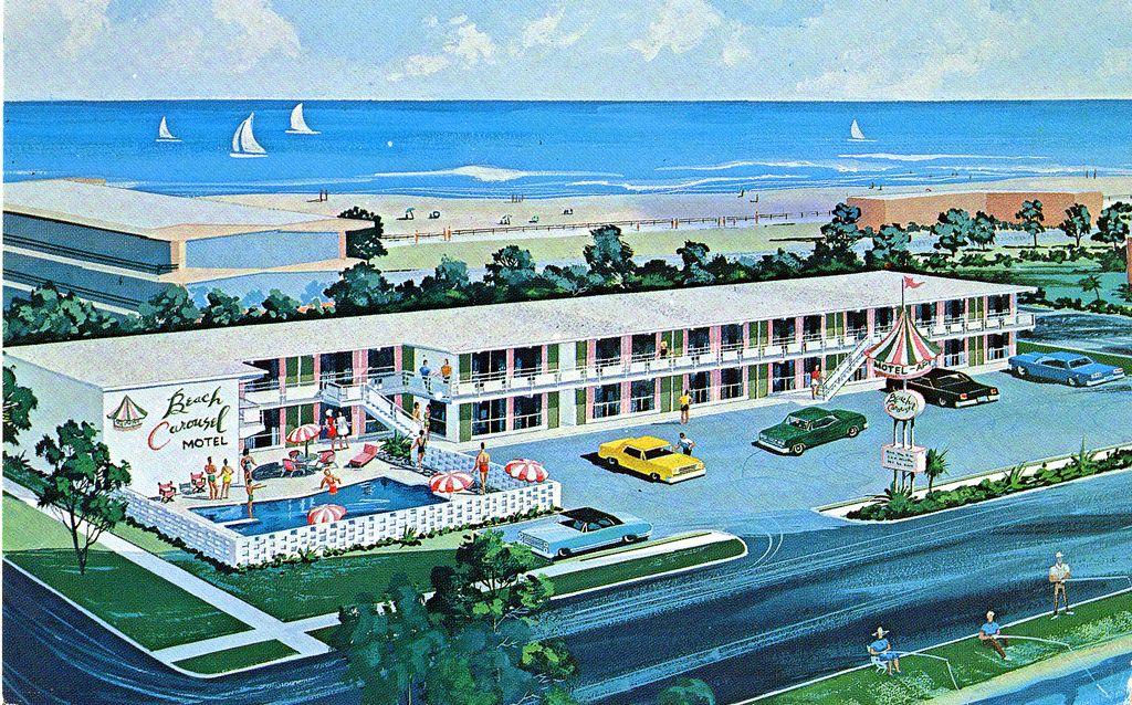 1960 S Beach Carousel Motel Virginia Beach Va With Images