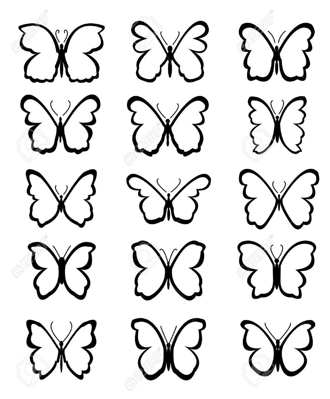 siluetas mariposas para colorear   Buscar con Google | fio