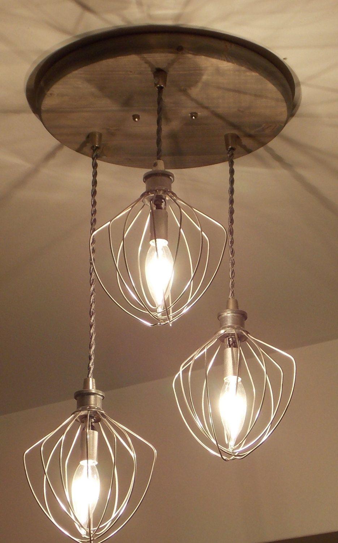 Industrial Chandelier - Whisk Chandelier | Rustic Lighting ...