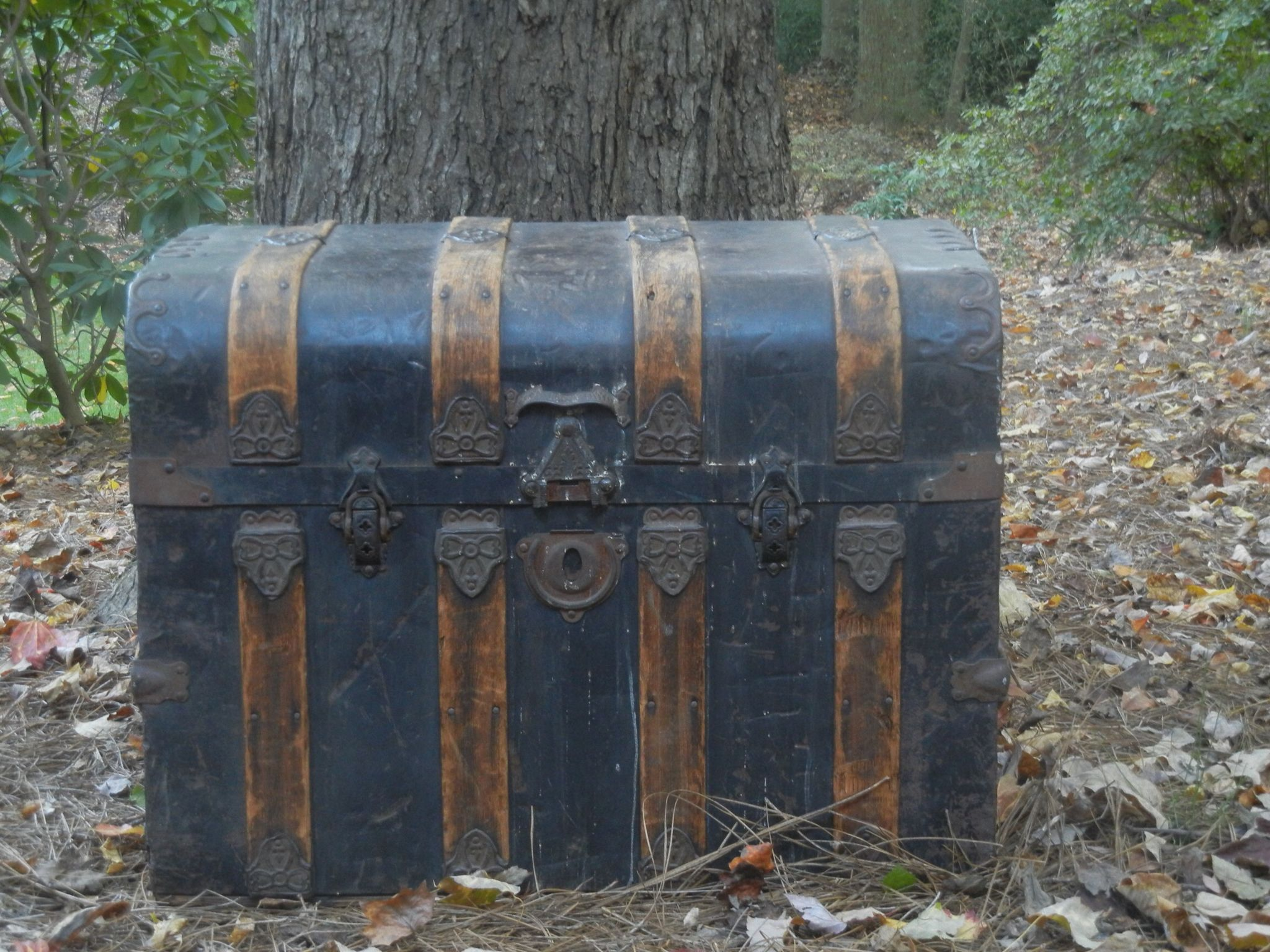 Vintage trunk from the 1800's  Use  it as a coffee table for a lounge seating area