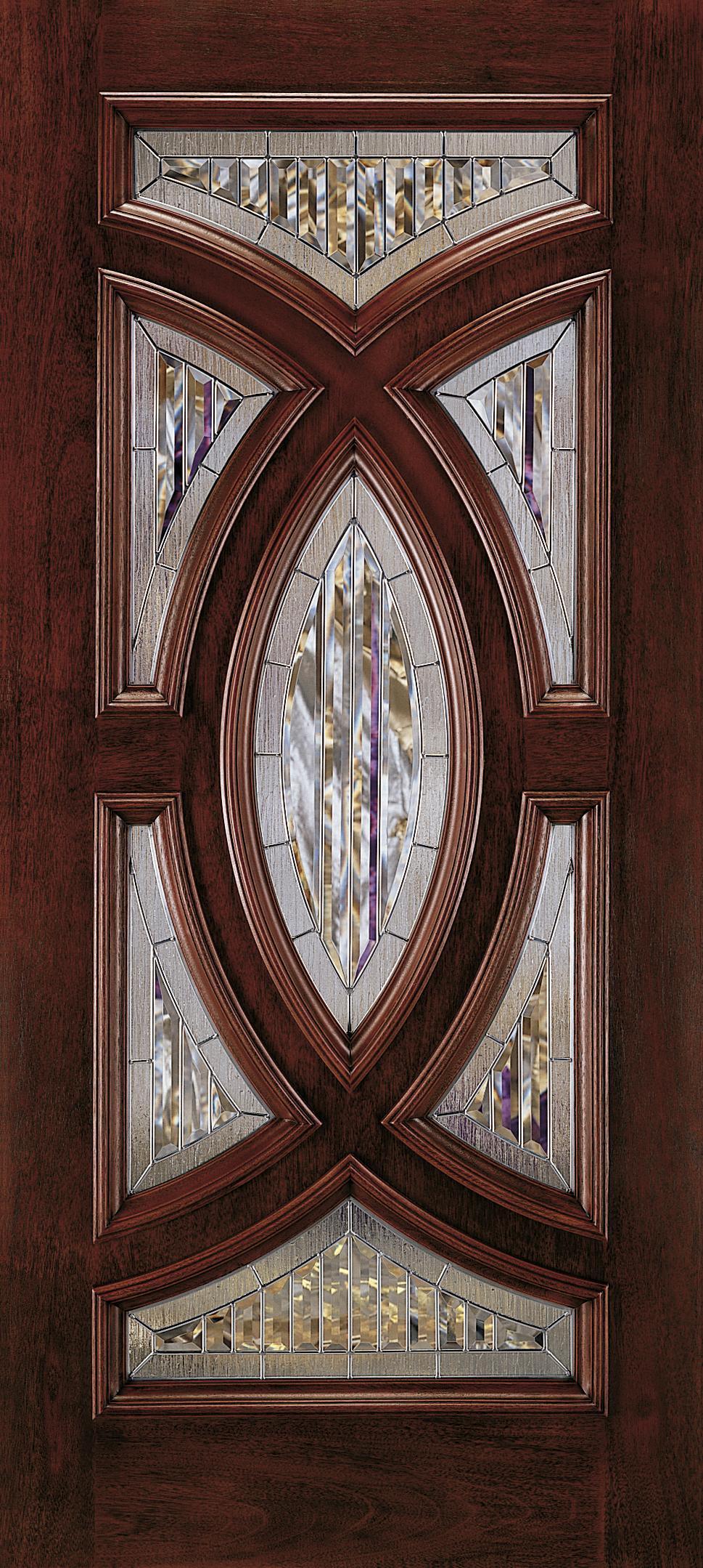 Aurora Custom Fiberglass Glass Panel Exterior Door Jeld Wen Doors