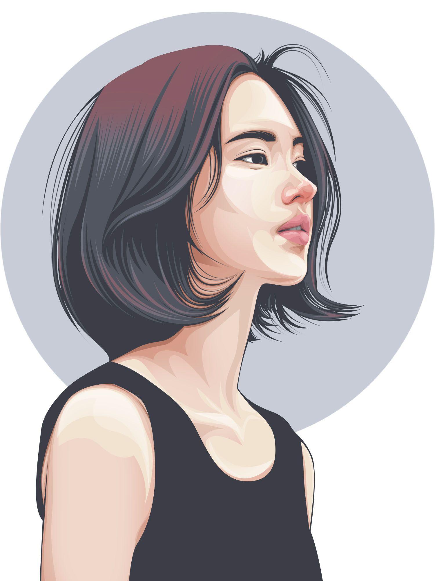 Beauty Girl FanArt by Rizky Fadillah Gambar, Lukisan
