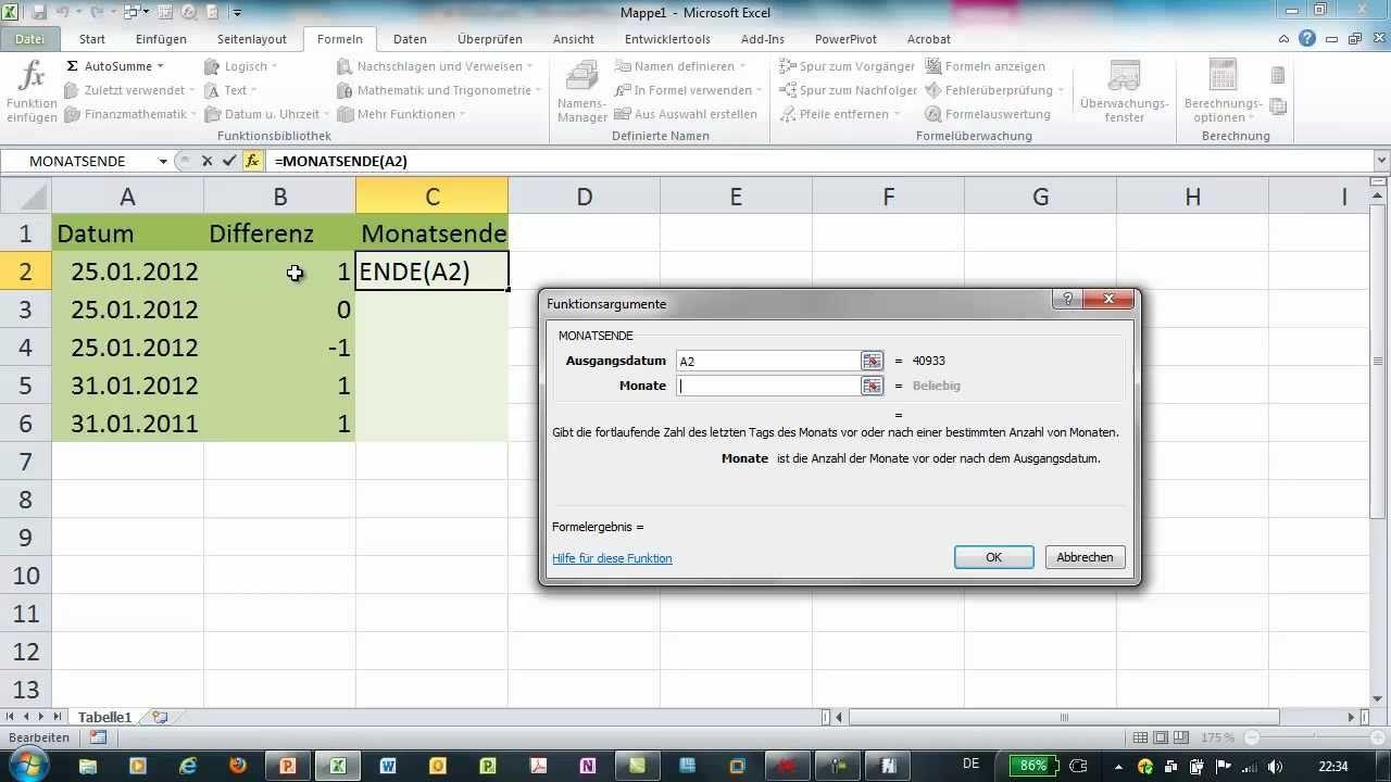 Excel Monatsende Zeitfunktionen Excel Tipps Seitenlayout Microsoft Excel