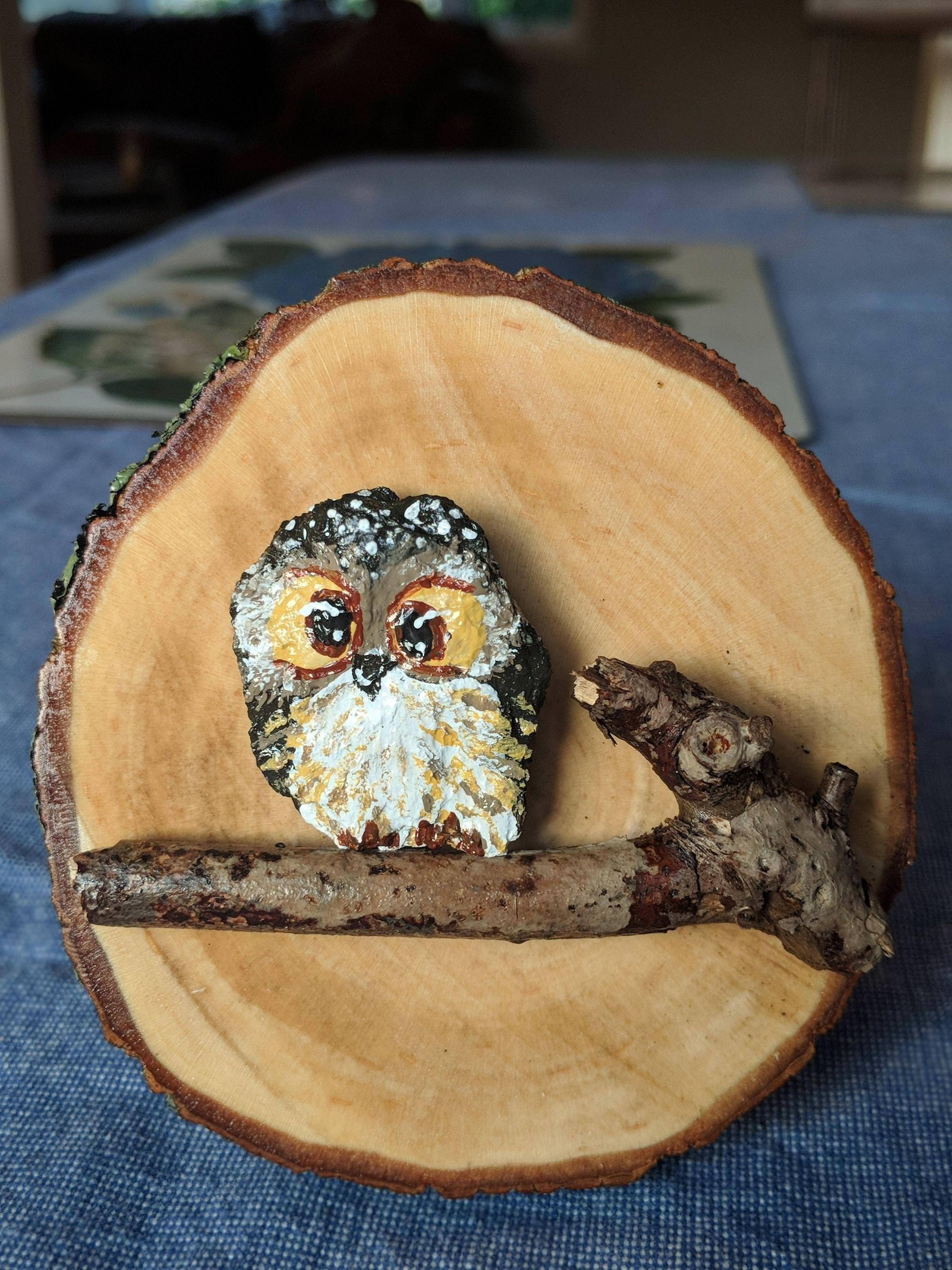 I made my grandma a little owl for her birthday Crafts