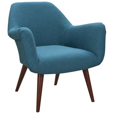 bucket chair in lido teal from freedom $599, modern retro