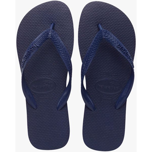 Havaianas Top Jandal (24 CAD) ❤ liked on Polyvore featuring shoes, flip flops, summer shoes, rubber shoes, havaianas shoes and havaianas
