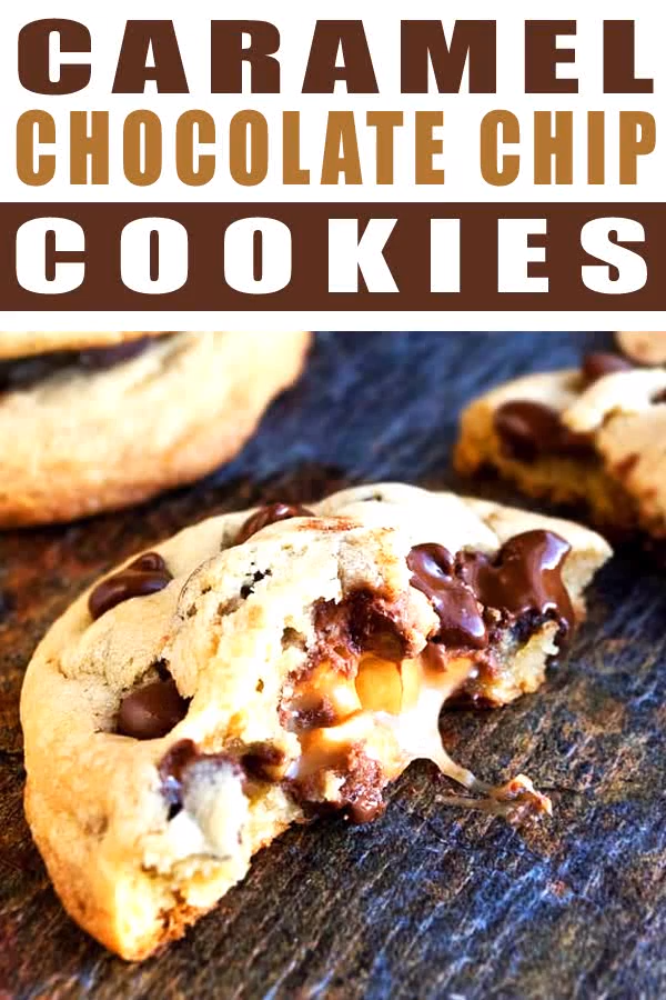 Caramel Chocolate Chip Cookies (Stuffed Cookies) images