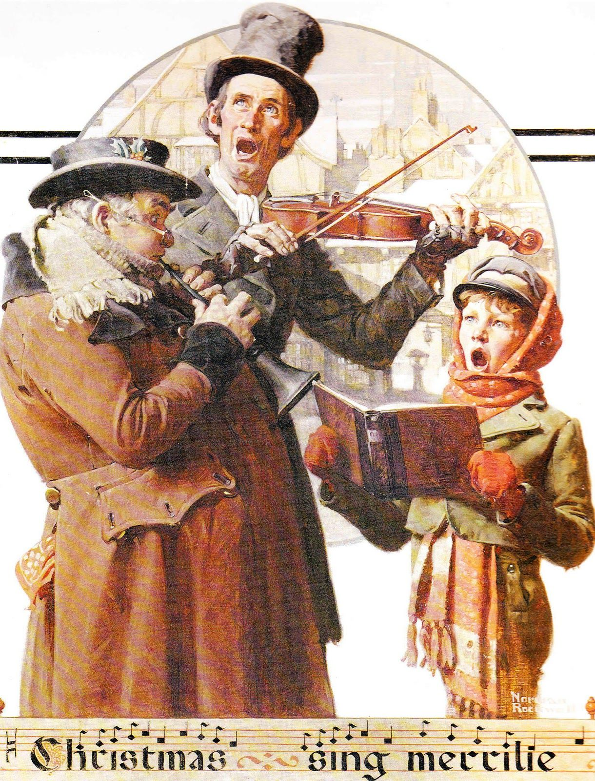 Rockwell singers merry christmas | Artist/Norman Rockwell ...