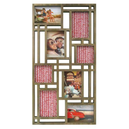 Mainstays 8-Opening Wall Collage Frame, Gold   Wall collage and Products