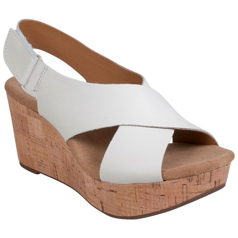 Shop Clarks Caslynn Shae Platform Sandals in White at http://inf.shoes