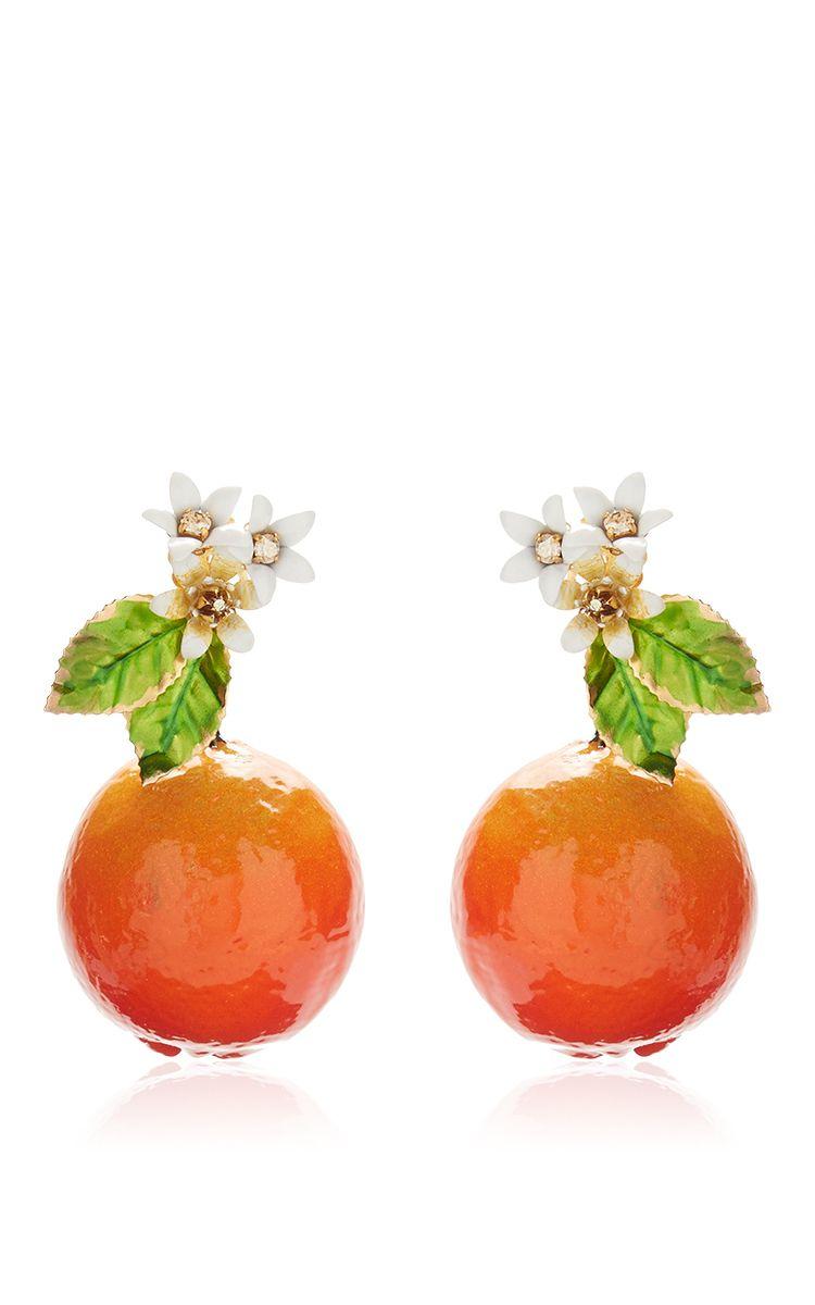 02b2e52091e Orange Resin Earrings by DOLCE   GABBANA for Preorder on Moda Operandi