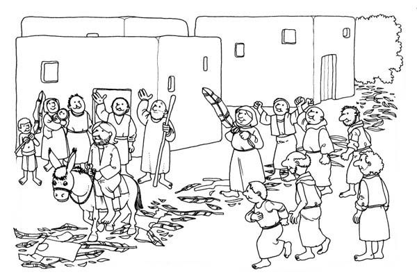 Palm Sunday Coloring Pages Palm Sunday Coloring Pages Bible