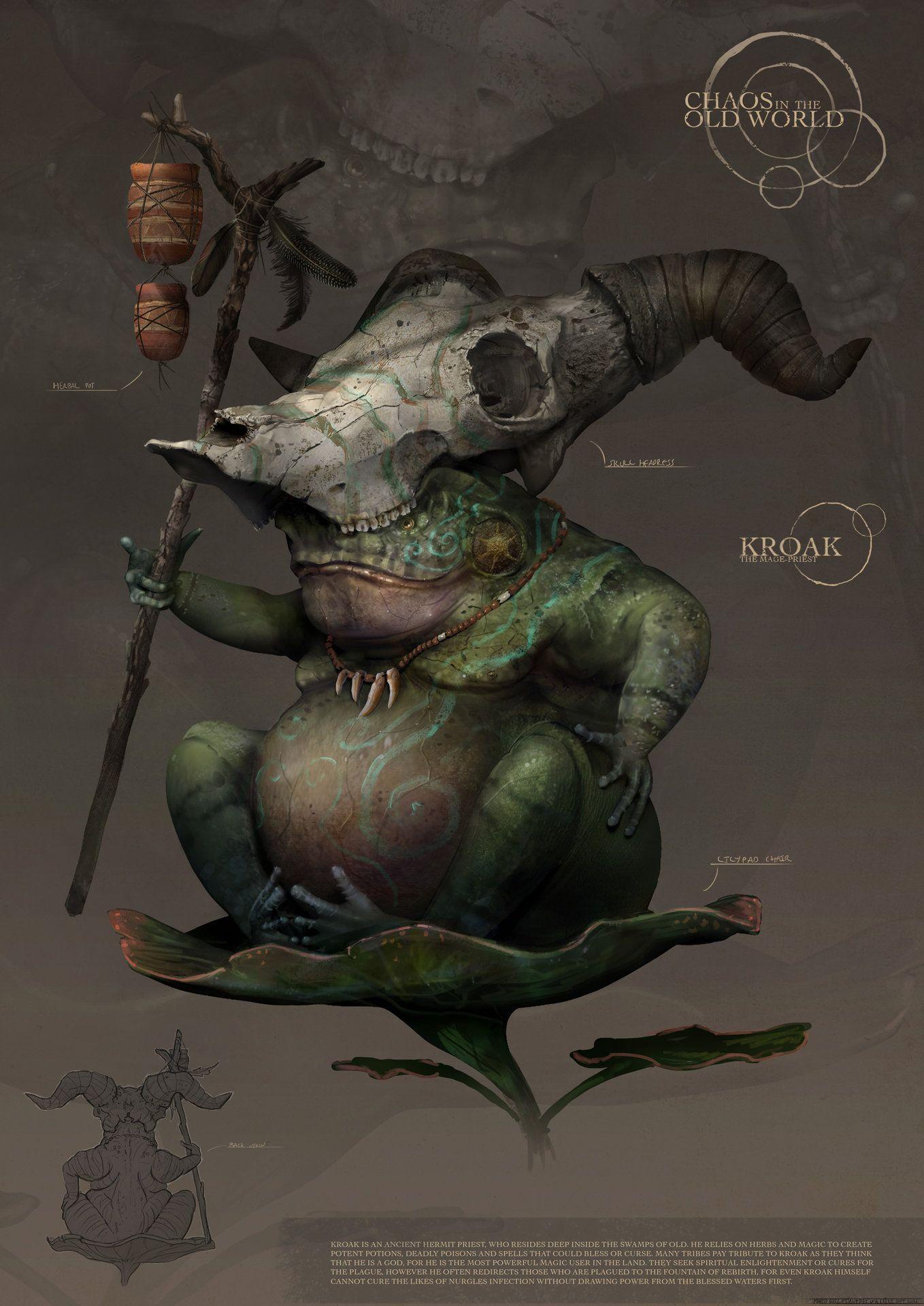 ArtStation - Chaos in the old World: Kroak , Marco Gorlei