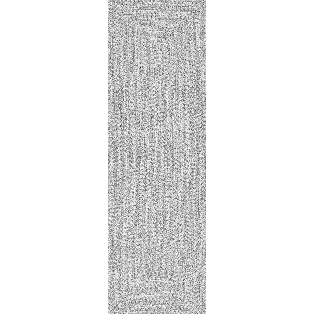 Nuloom Lefebvre Casual Braided Salt Pepper 3 Ft X 12 Ft Indoor Outdoor Runner Hjfv01c 26012 Area Rugs Rugs Braids