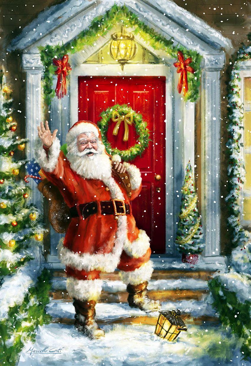 Санта картинки рождество