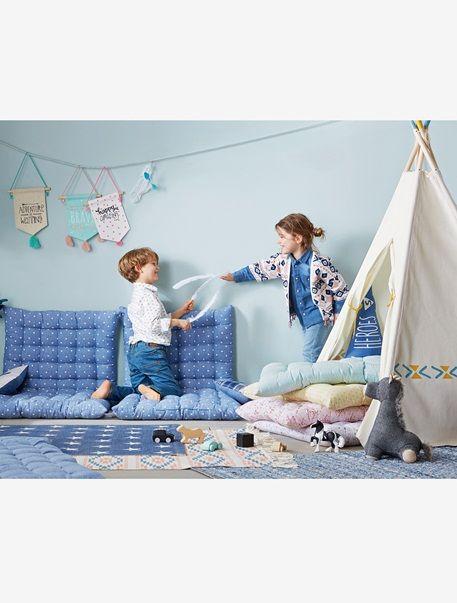 matelas de sol ecru imprim bleu vertbaudet enfant. Black Bedroom Furniture Sets. Home Design Ideas