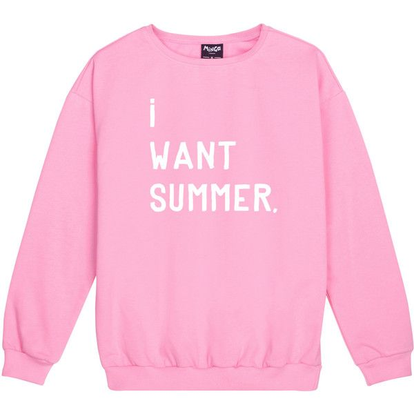 I Want Summer Sweater Jumper Funny Fun Tumblr Hipster Swag Grunge Kale... (€19) ❤ liked on Polyvore featuring tops, hoodies, sweatshirts, black, women's clothing, pastel goth tops, retro sweatshirts, gothic tops, punk tops and hipster tops