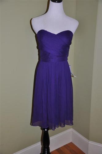J Crew Silk Chiffon Arabelle Short Dress 8 $250 DK Eggplant New Party Bridesmaid | eBay