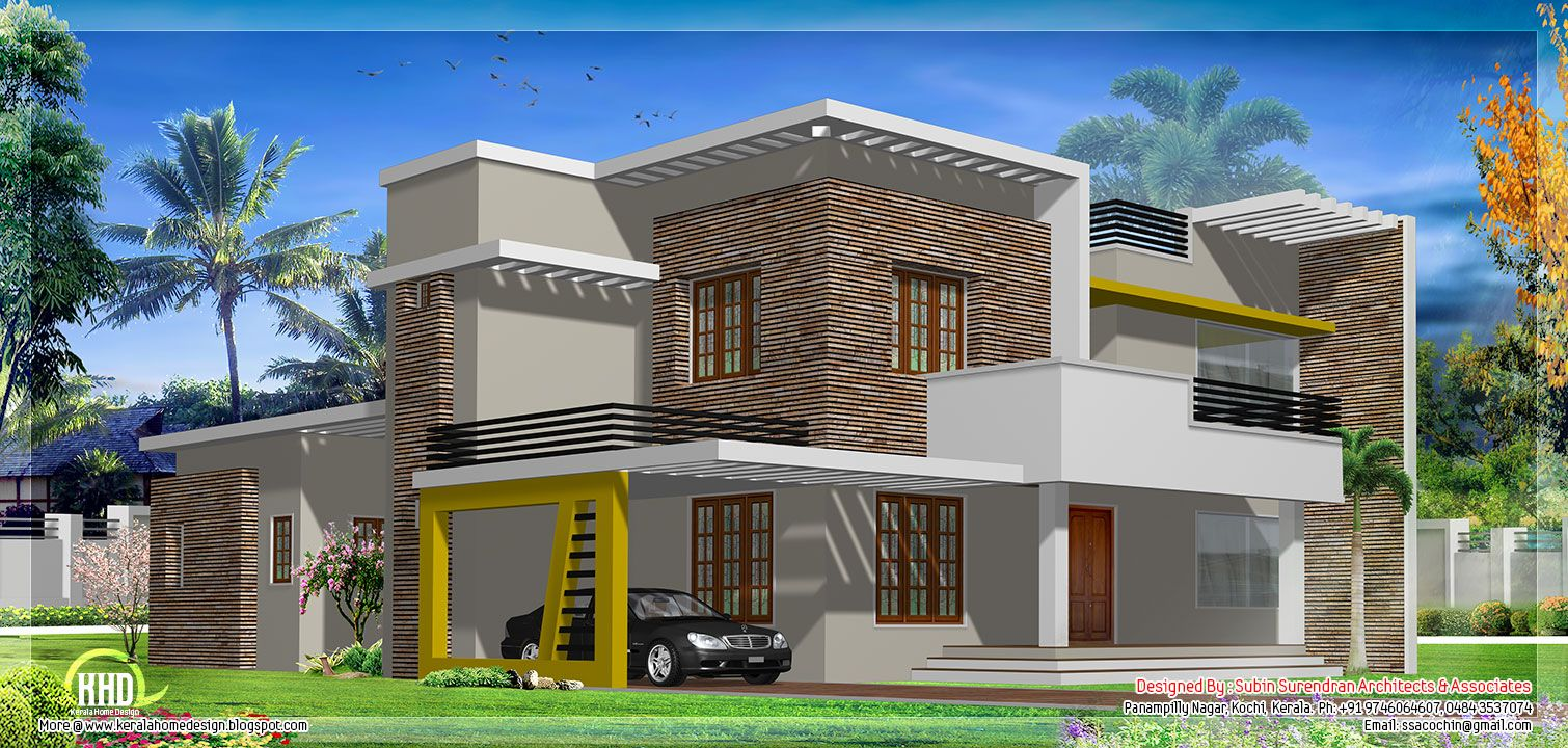 Contemporary Architecture Roof House Balcony Design Modern Roof Design Flat Roof House