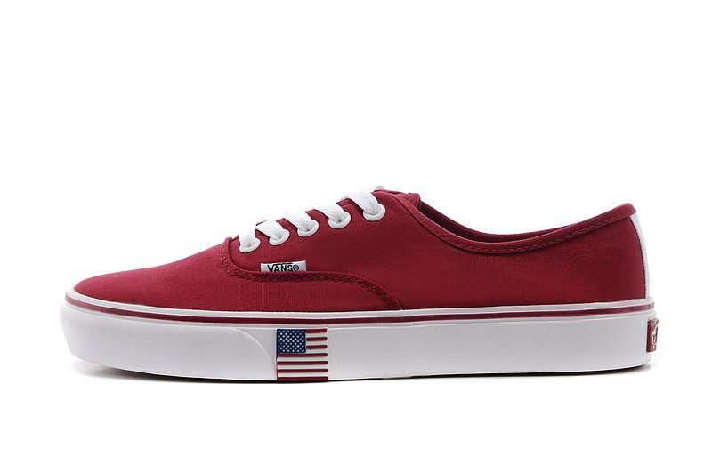 a744820adf09ac 2014 Vans Authentic Lite 2014 Brazil FIFA World Cup USA Team Shoe ...