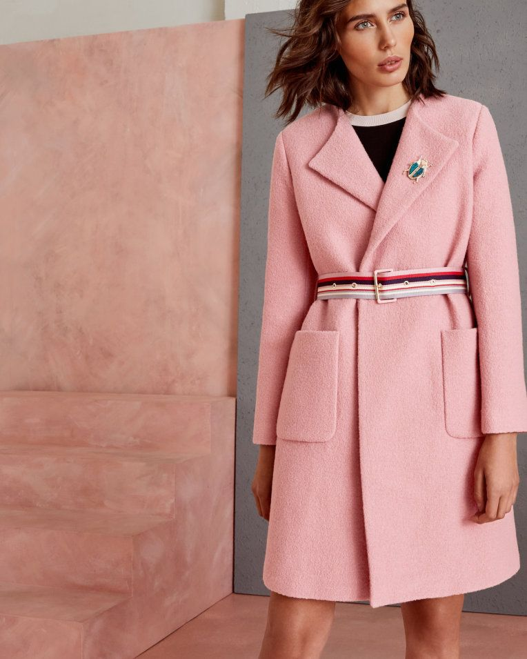 bde61f04b Wool wrap coat - Pink