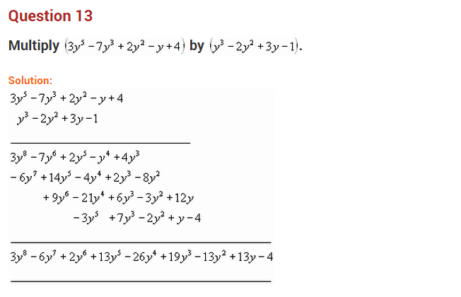 Algebraic expressions and identities NCERT extra questions