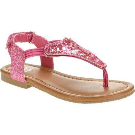 Toddler Girls' Hooded Flower Glitter Sandal, Toddler Girl's, Size: 10, Pink