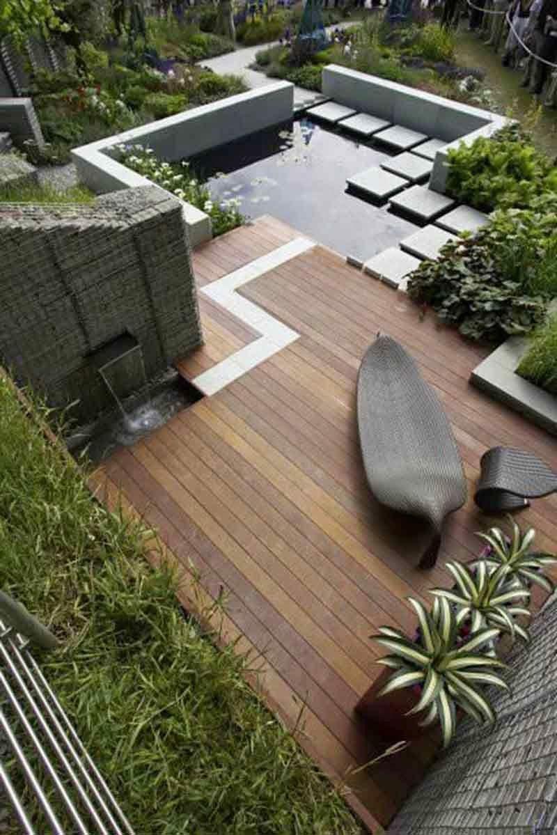 kombinacija lesa, kamna in rastlin #terrasse | Arch & Home Design ...