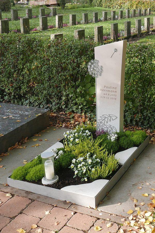Kindergrabstein Pusteblume #friedhofsdekorationenallerheiligen