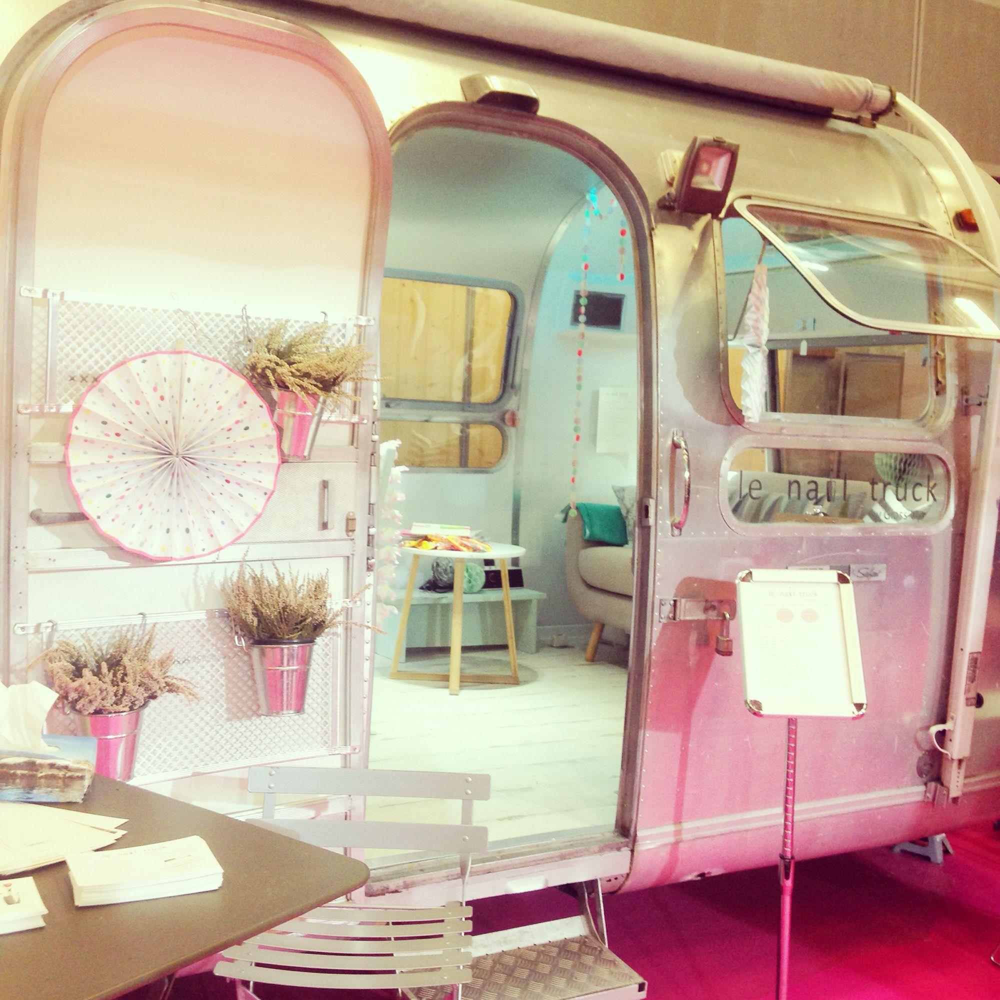 Nail Spa Salon: Vintage Campers And Milk Trucks