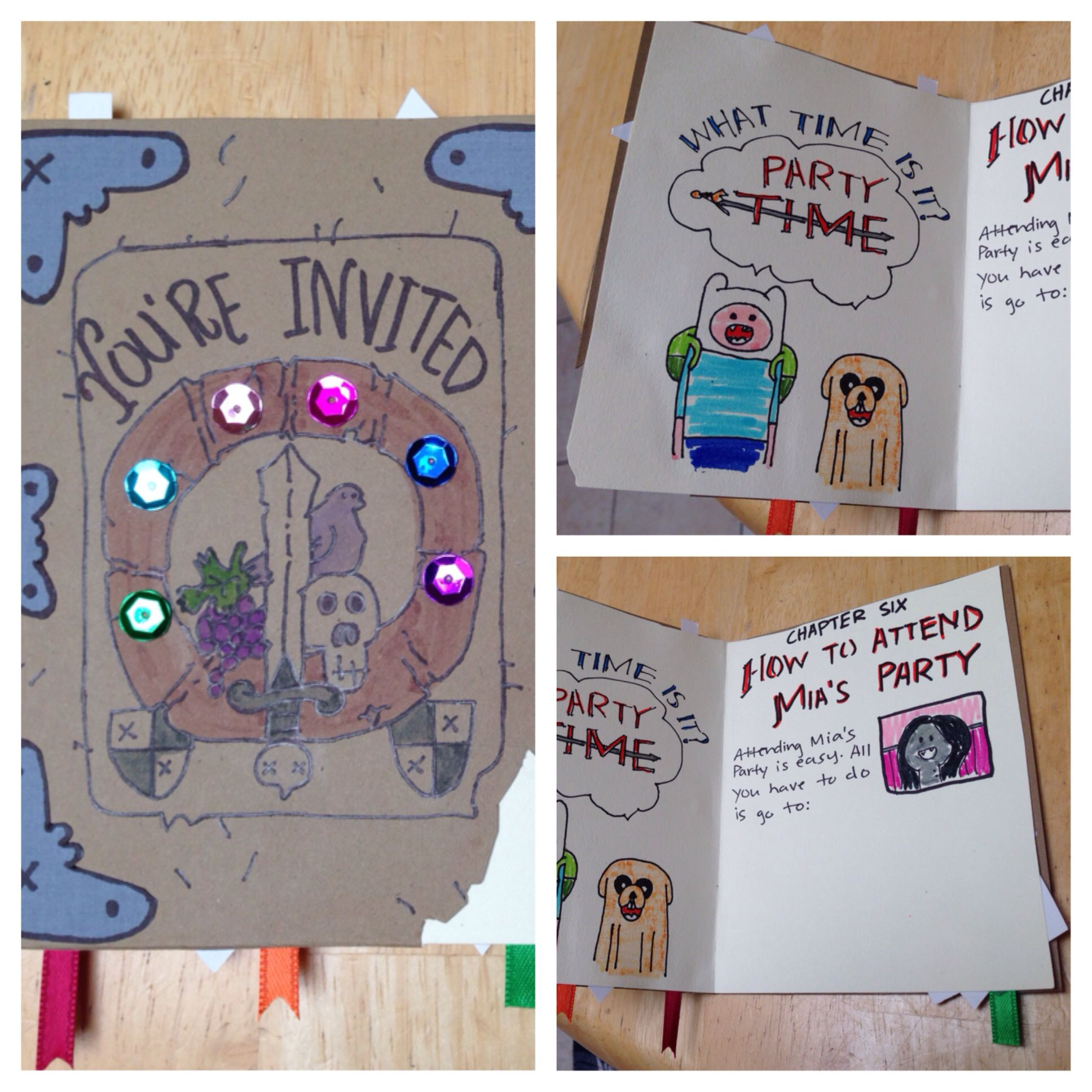 Adventure Time the enchiridion party invitation. Customized to my ...