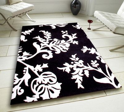 Black And White Damask Rug Stunning Home Design With Floral Effect