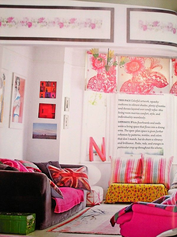 love the british flag pillows-Bazaar Style: Decorating with Market ...