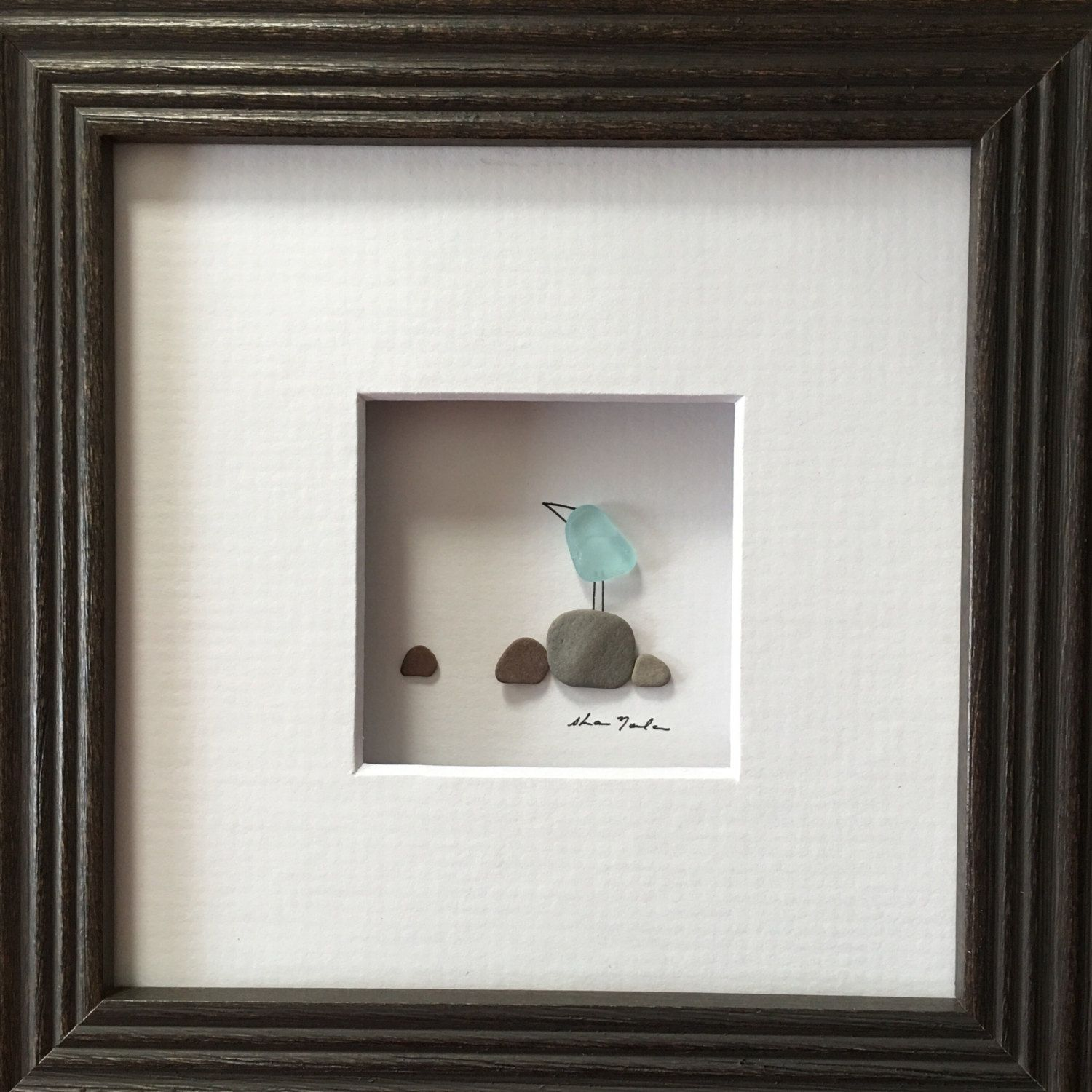 5 by 5 Framing add on for Sharon Nowlan\'s miniature pebble art ...